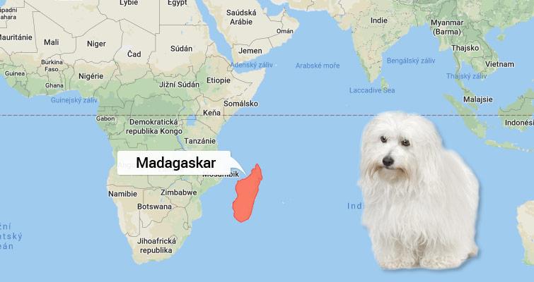 Mapa Madagaskar
