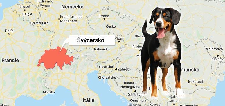 Švýcarsko - Entlebuchský salašnický pes