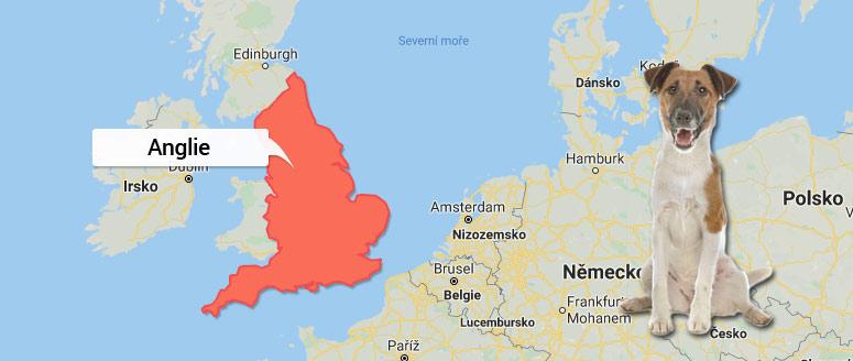 Mapa Anglie