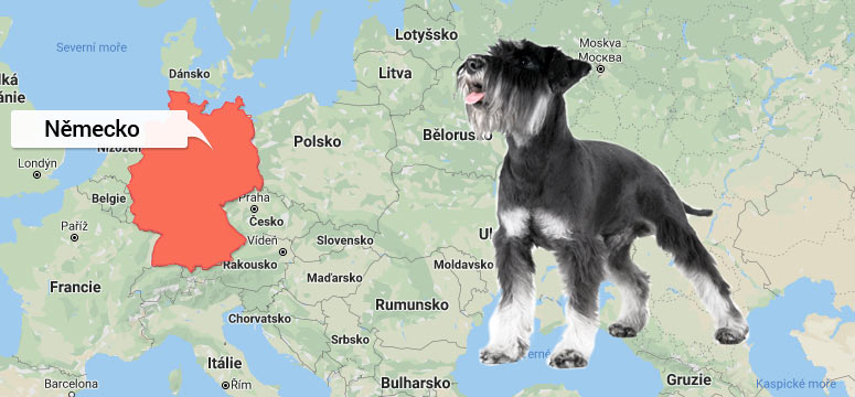 Mapa Německo - Malý knírač