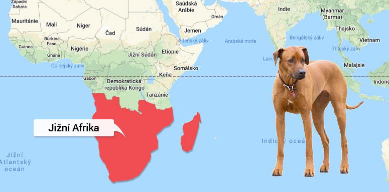 Mapa Jižní Afrika