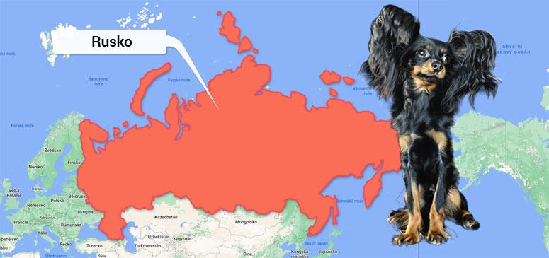 Mapa Rusko - Ruský toy